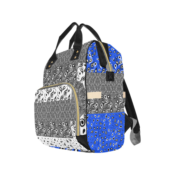 Paisley Pattern AABlue II Multi-Function Backpack