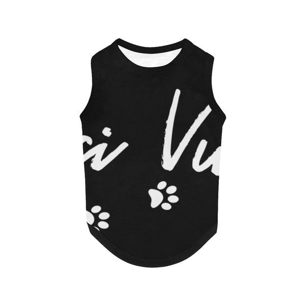 Pucci Vuitton Logo 1- Black All Over Printed Pet Tank Top