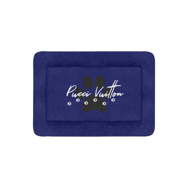 Pucci Vuitton Royal Blue Pet Bed