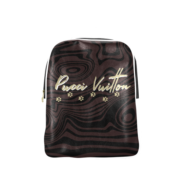 Pucci Vuitton Off-White-Cream PU leather Backpack