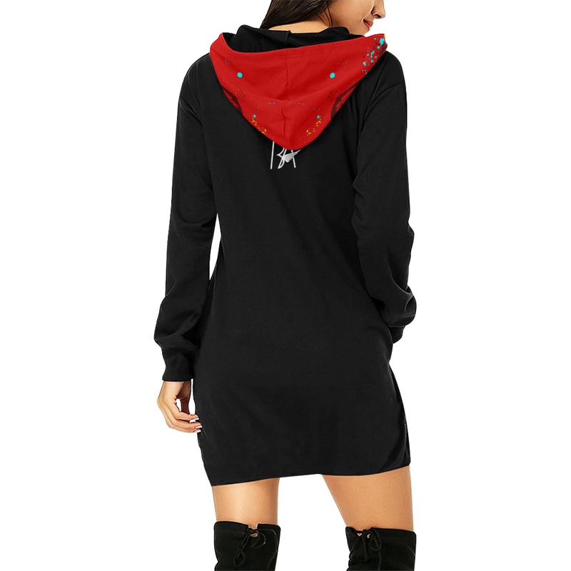 MONEY HUNGRY: TIME FOR A MILL Women's Hoodie Dress  (Brian Angel Collection)