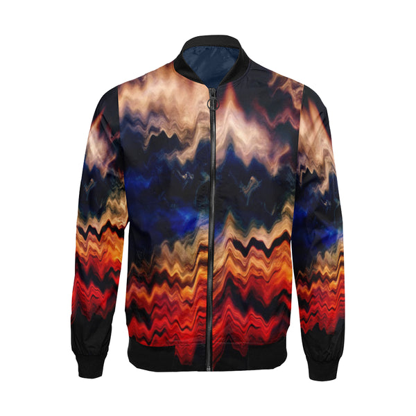 Melted Sunset All over design Bomber Jacket for Men - ENE TRENDS
