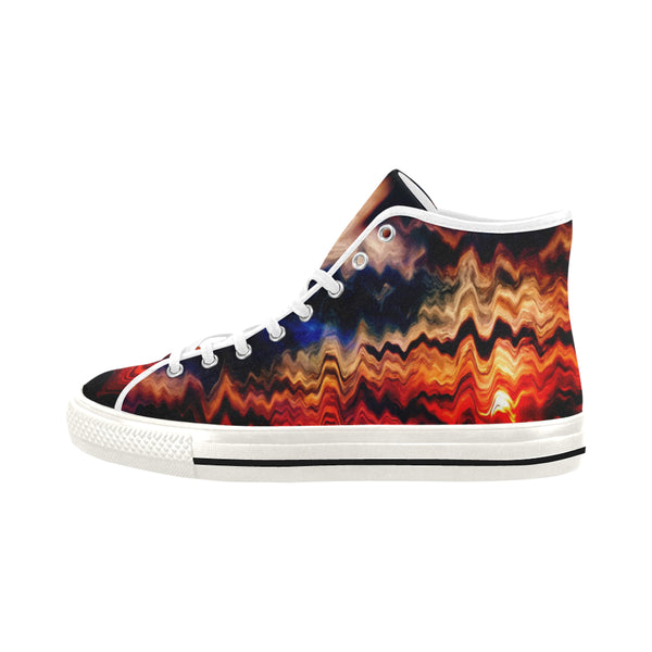 """MELTED SUNSET"" Men's Canvas Sneakers - ENE TRENDS"