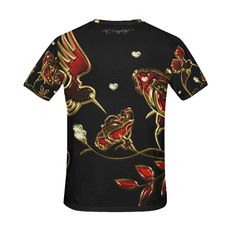 HUMMINGBIRD Black Art Manifested T-shirt - ENE TRENDS