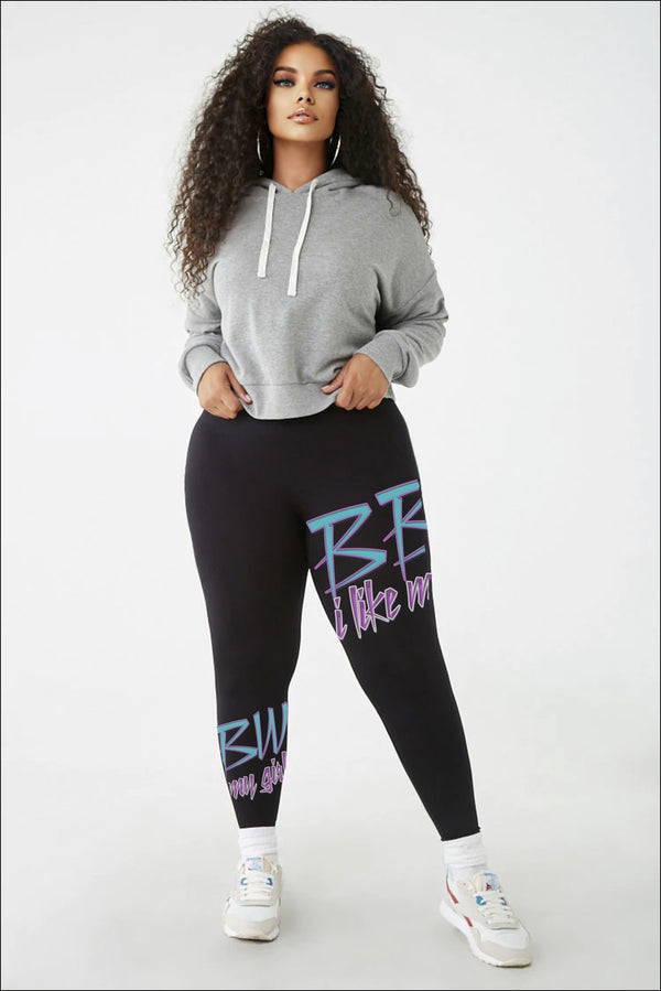 Black BBW Plus Size Leggings Brina Angel Collection