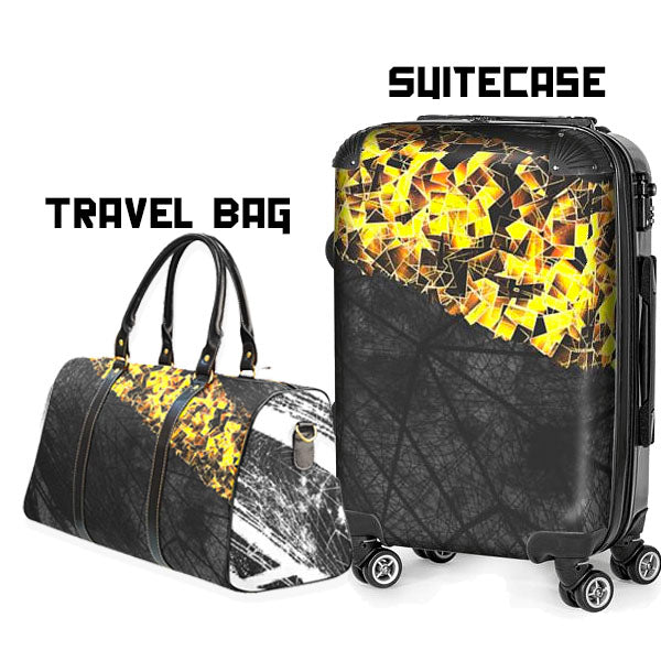 Holiday Gold Large Waterproof Travel Bag