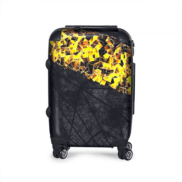 Holiday Gold Suitcase/ Luggage Bag (handmade to order)