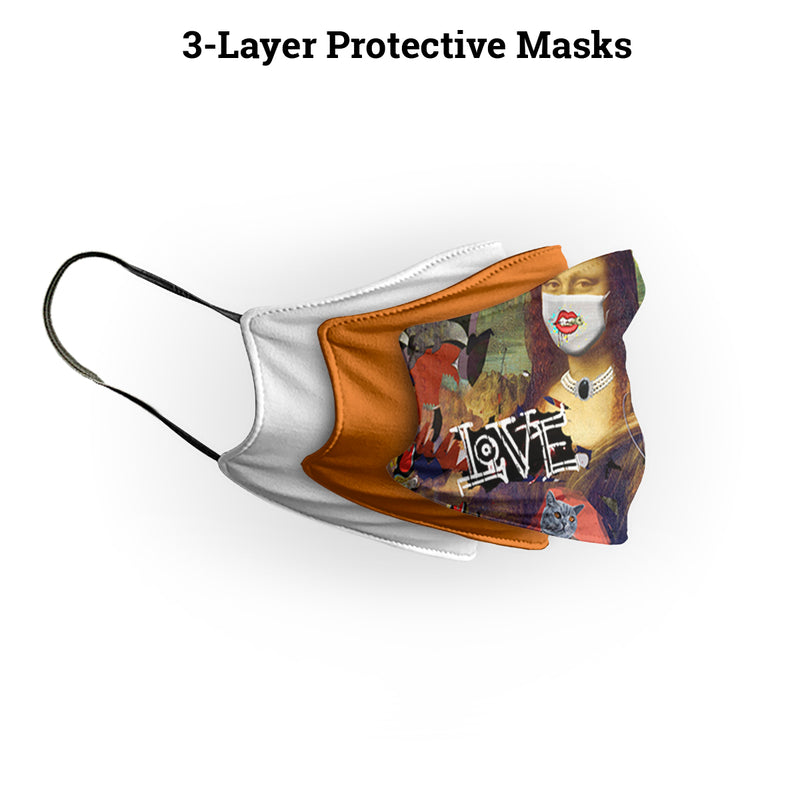 Mona Lisa Face Drip Mask