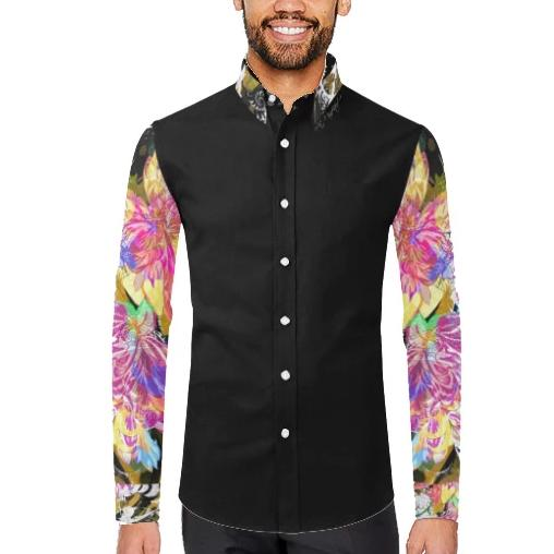 Piuma Printed Sleeve Casual Dress Shirt