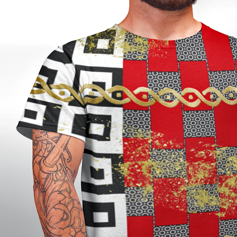 Punteggiato Drip Mesh T-shirt for Men 'Cut & Sew made to order' - ENE TRENDS