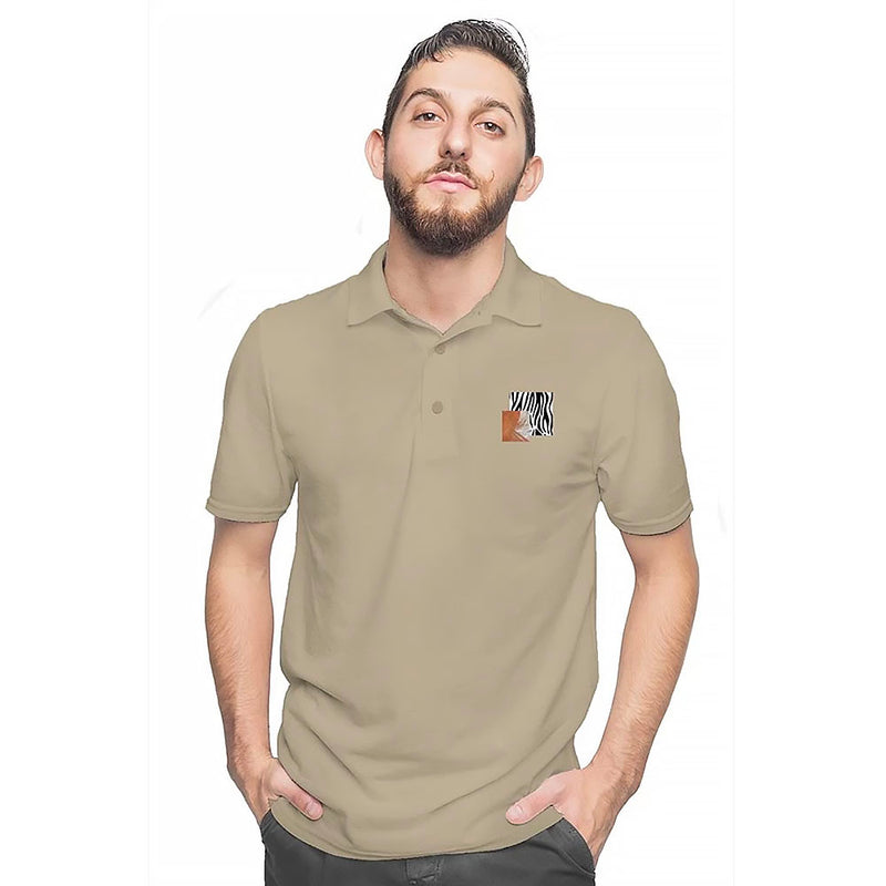Network Z Sand Embroidered Art-Pop Polo Shirt (Limited Edition Color)