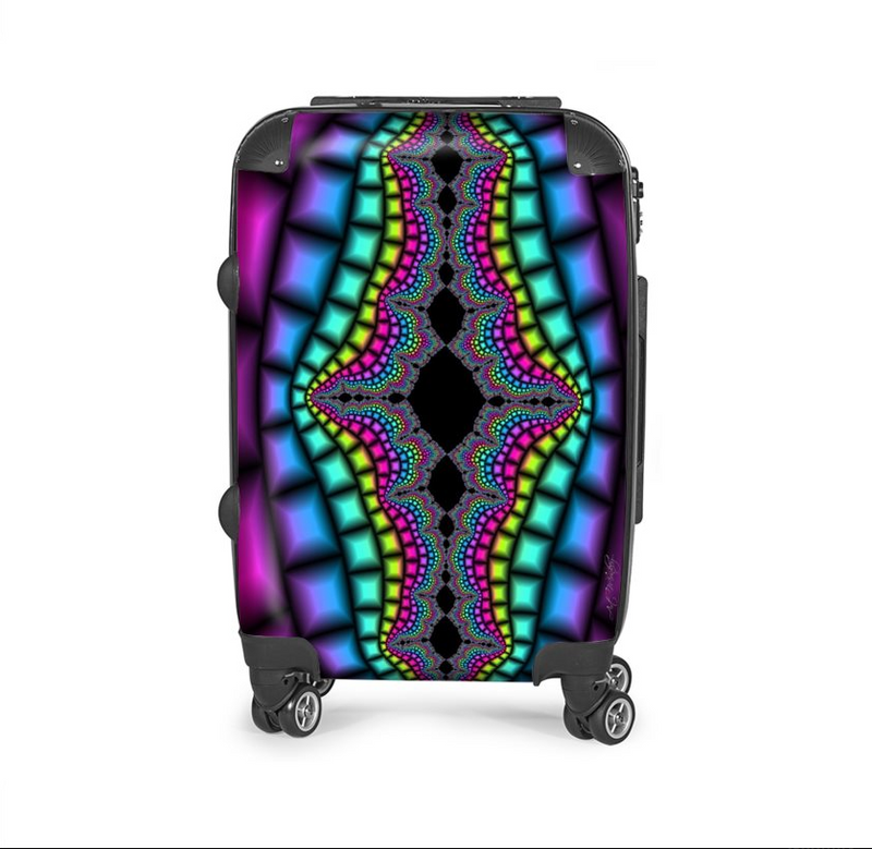 Vintage Psychedelic travel luggage bag (made to order) - ENE TRENDS