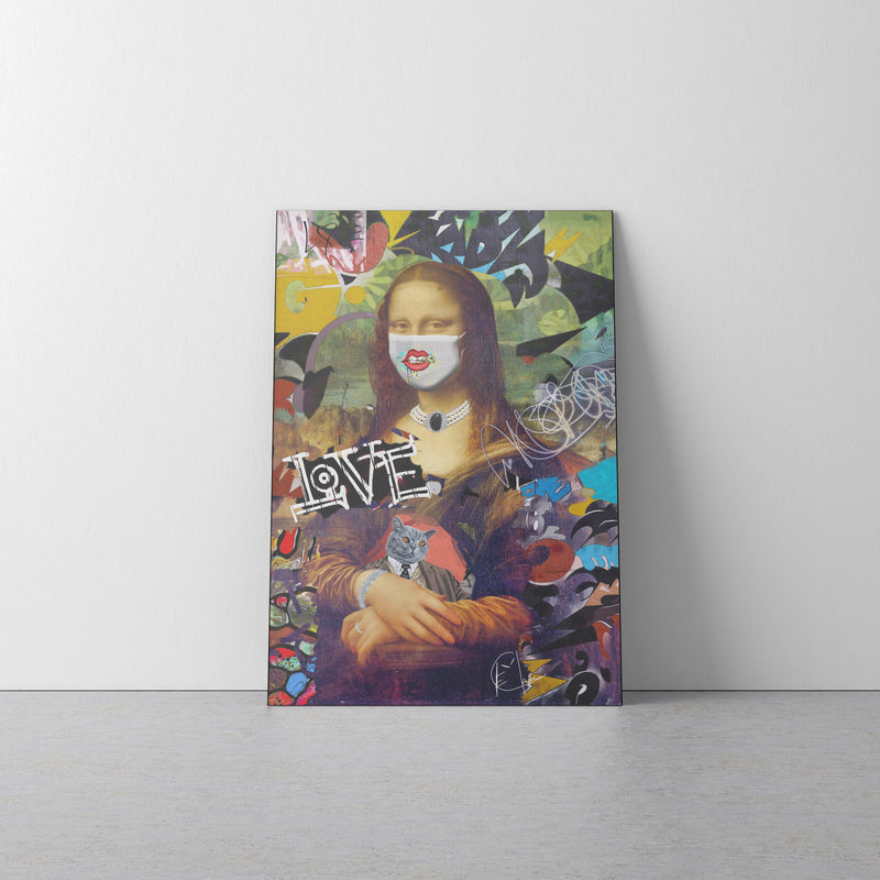 Mona Lisa 2020 On One Portrait Canvas 1.5in Frame