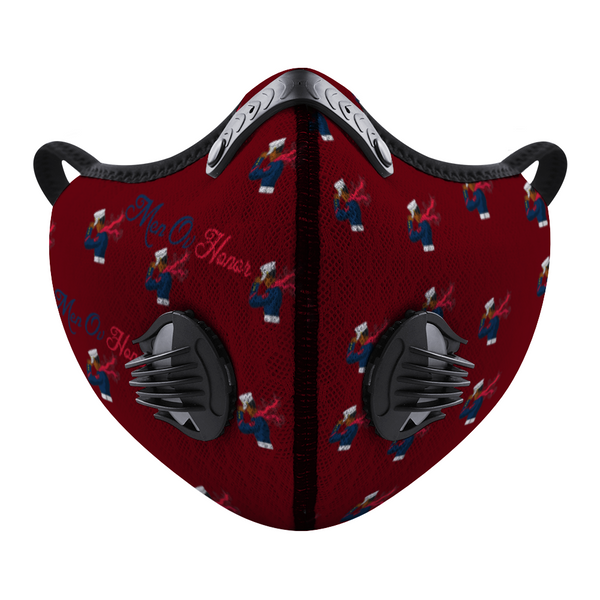 Men Ov Honor Burgundy Custom Face Mouth Mask