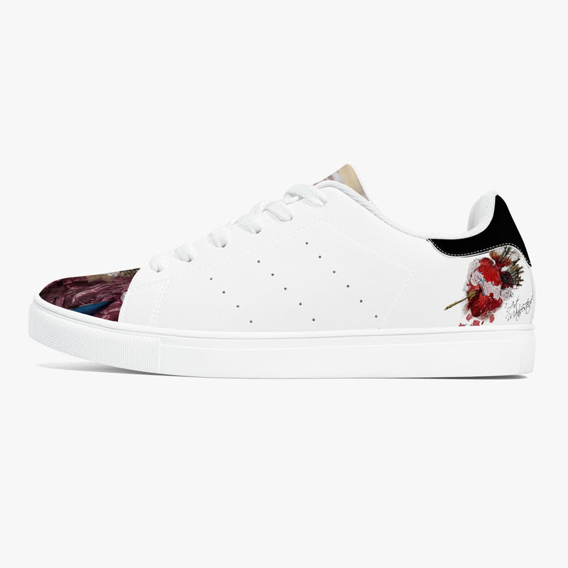 Mary Sacred Heart Classic Low-Top Leather Unisex Sneakers - White/Black
