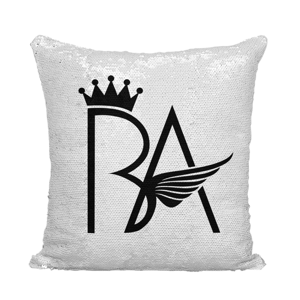 MONEY HUNGRY TIME FOR A MILL Sequin Cushion Cover (Brian Angle Collection) - ENE TRENDS
