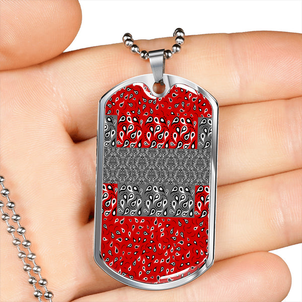 Vaquero in Red Luxury Dog Tag
