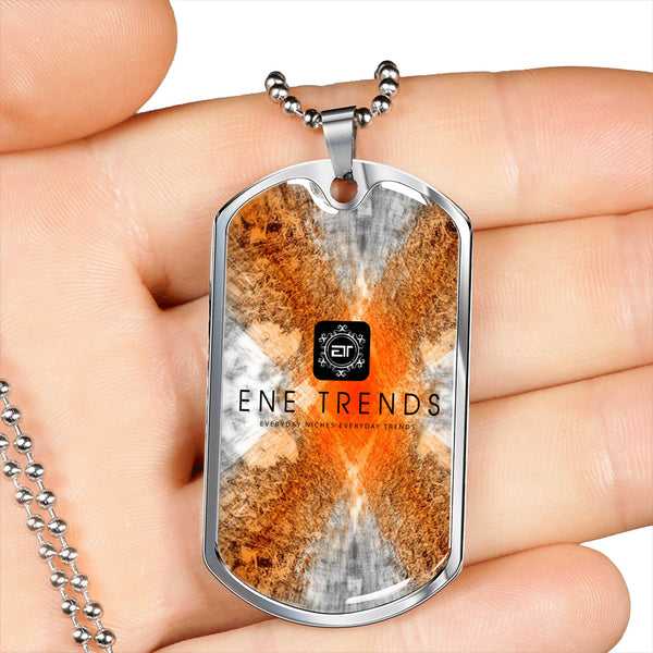 ENE Trends Customizable Hand-made Dog Tag Chain