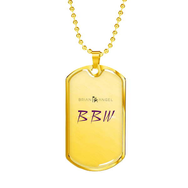 Brian Angel BBW Dog Tag Luxury Military Necklace