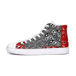 VAQUERO RED Men's Hightop Canvas Shoe - ENE TRENDS