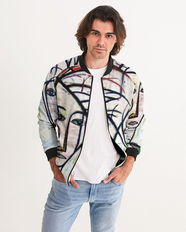Abstract Gemini Men's Bomber Jacket