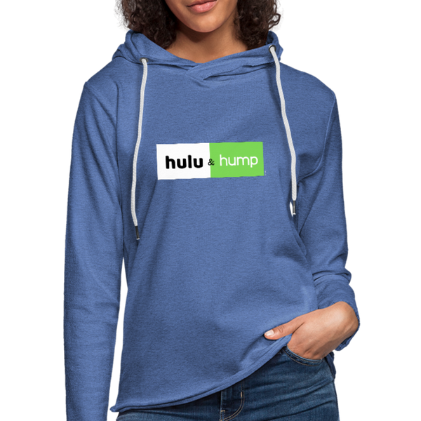 Hulu and Hump Unisex Lightweight Terry Hoodie - heather Blue