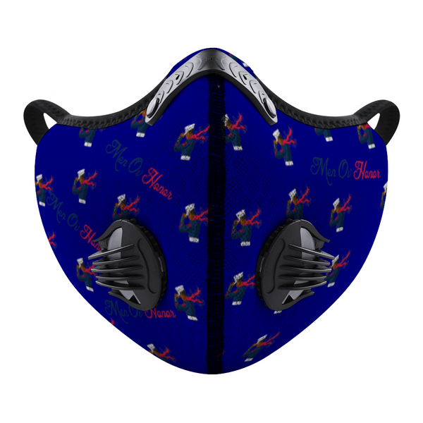 Men Ov Honor Navy Blue Customized Face Mouth Mask