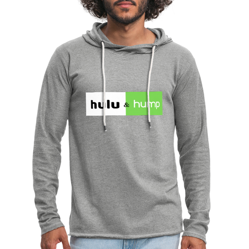 Hulu and Hump Unisex Lightweight Terry Hoodie - heather gray