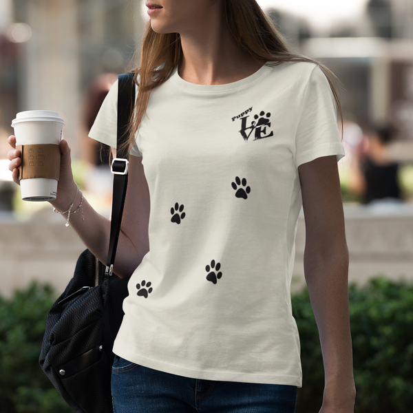 Puppy Love Fitted Cotton/Poly T-Shirt by Next Level