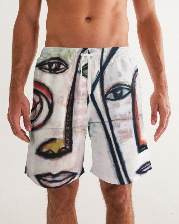 Abstract Gemini Men's Swim Trunk