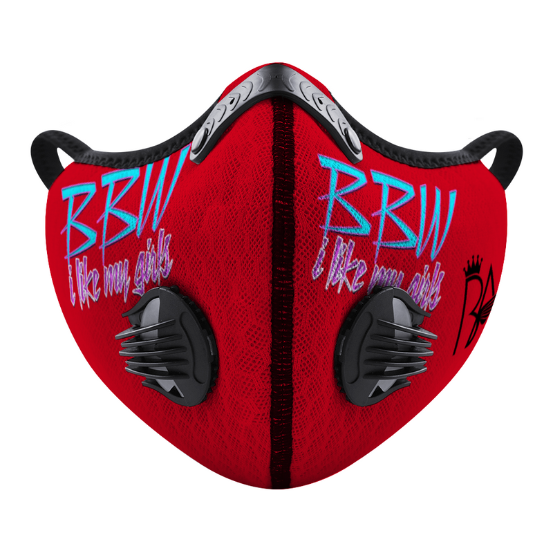 BBW Red Custom Face Cover Brian Angel Collection