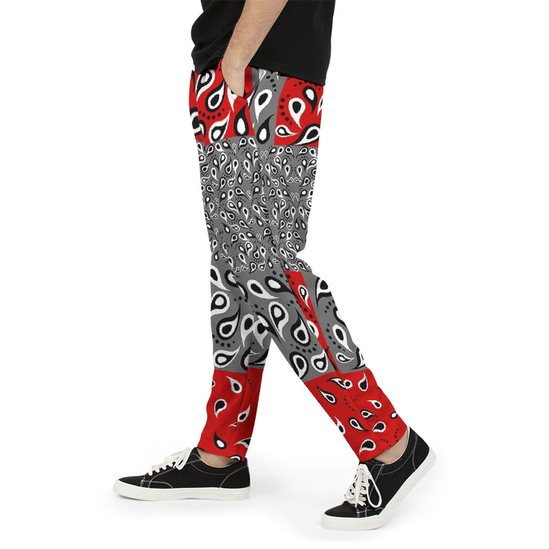 VAQUERO RED Men's Joggers 'CUT & SEW MADE TO ORDER' Men's Joggers - ENE TRENDS