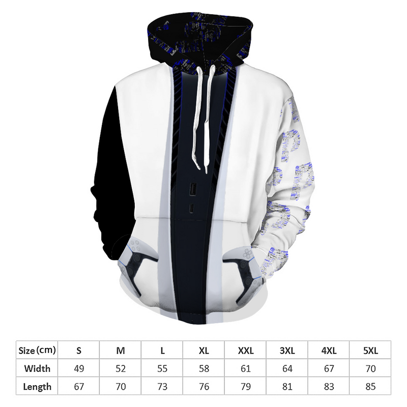 Exclusive PS5 Customized Hoodie All Over Print Sweatshirt with Pockets