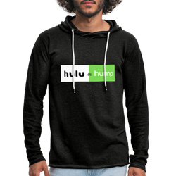 Hulu and Hump Unisex Lightweight Terry Hoodie - charcoal gray