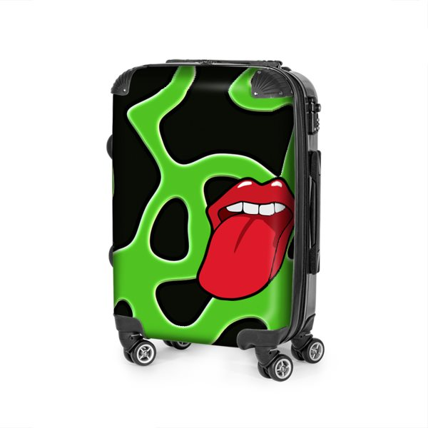 Tongue Out Custom Travel Luggage Bag (Handmade to order)