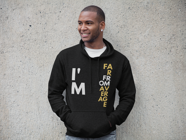 Far From Average Men's Classic Hoodie (Motiv8Me Collection)