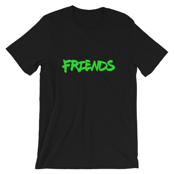 Friends More Like Frenemy White/Black/LIME Unisex tee - ENE TRENDS