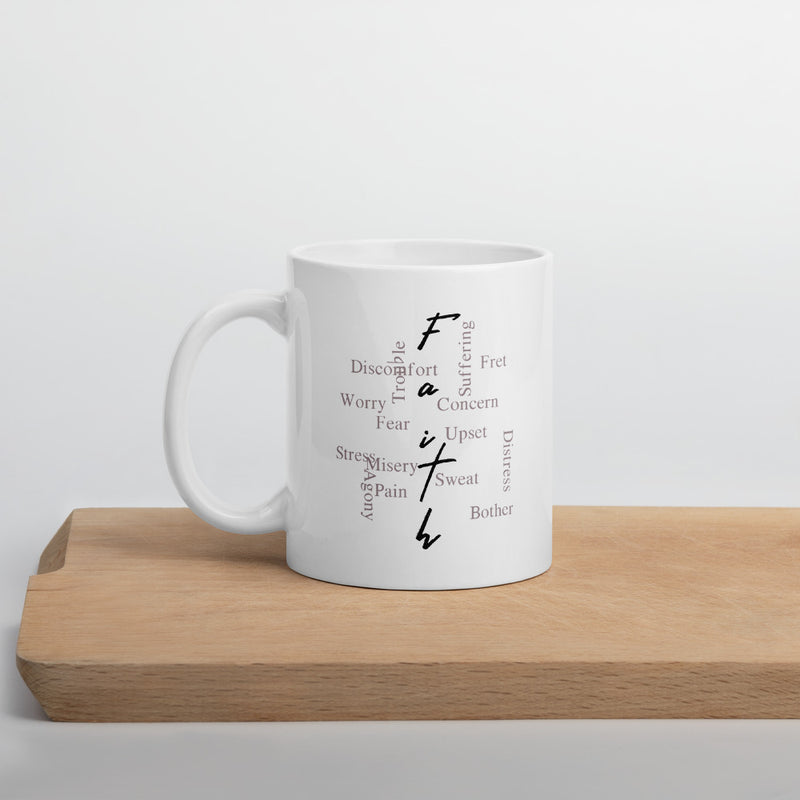 Faith over Everything Mugs White