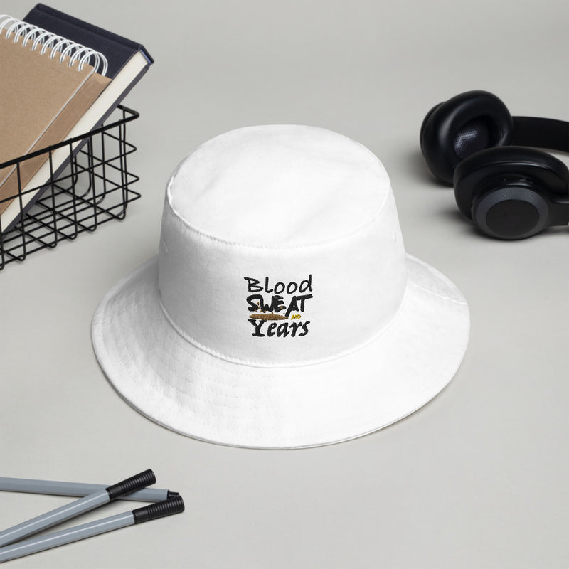Blood Sweat And Years Embroidered Bucket Hat (3 Colors)