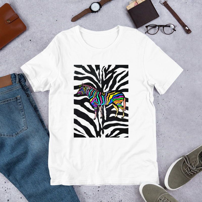 Pineapples - Zebra! Short-Sleeve Unisex T-Shirt
