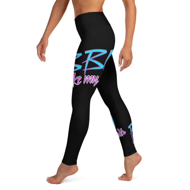 Black BBW Yoga Leggings Brian Angel Collection