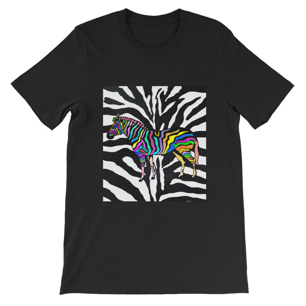 Zebra Short-Sleeve Unisex T-Shirt - ENE TRENDS