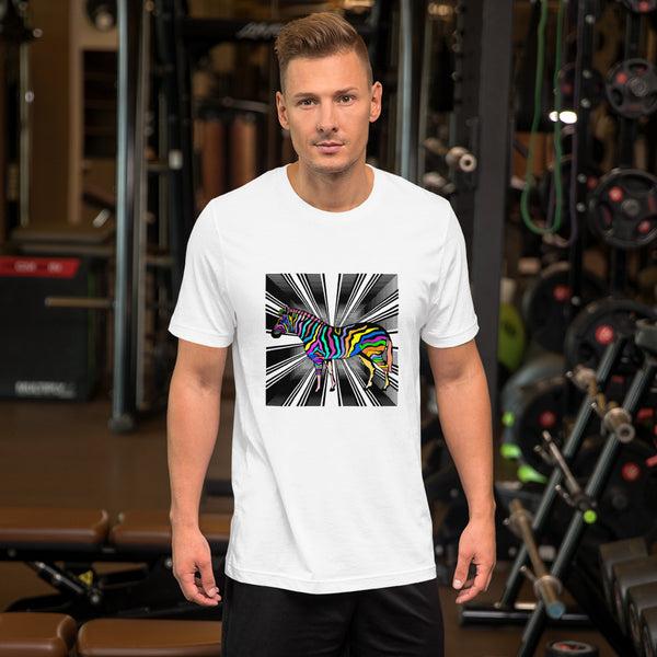 Optical Zebra Short-Sleeve Unisex T-Shirt - ENE TRENDS