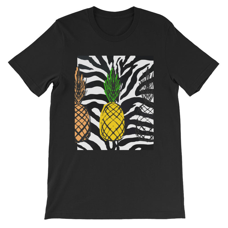 Pineapples - Zebra! Short-Sleeve Unisex T-Shirt - ENE TRENDS