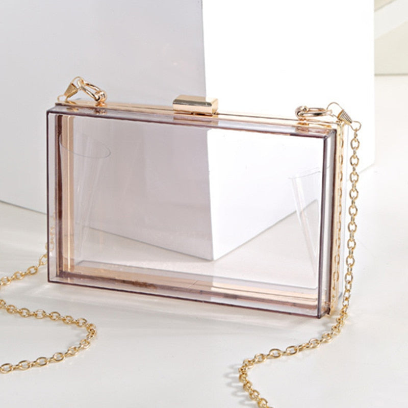 MINA Luxury Transparent Clutch