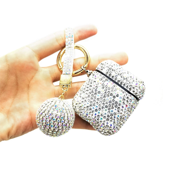 Luxury Crystal Protective AirPod Case Cover w/Keychain