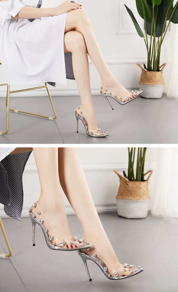COCO Crystal Illusion High Heels