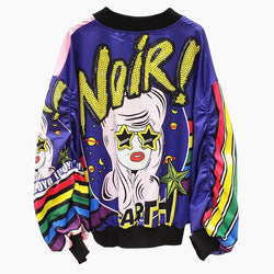 CINDY High Fashion Graphic Bomber Jacket