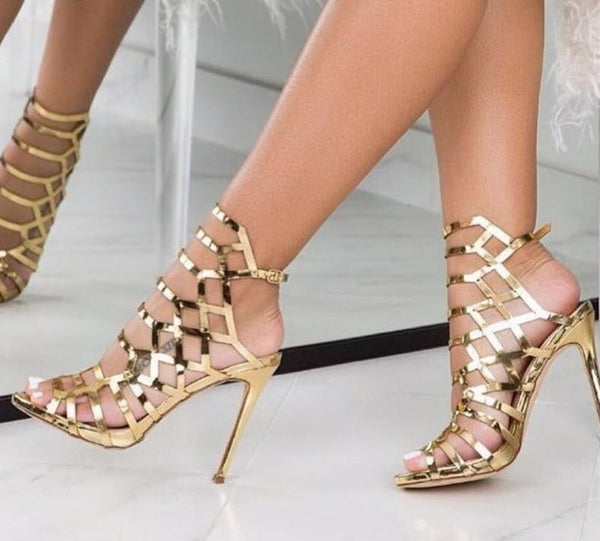 VERONICA Open Toe Gladiator Heels