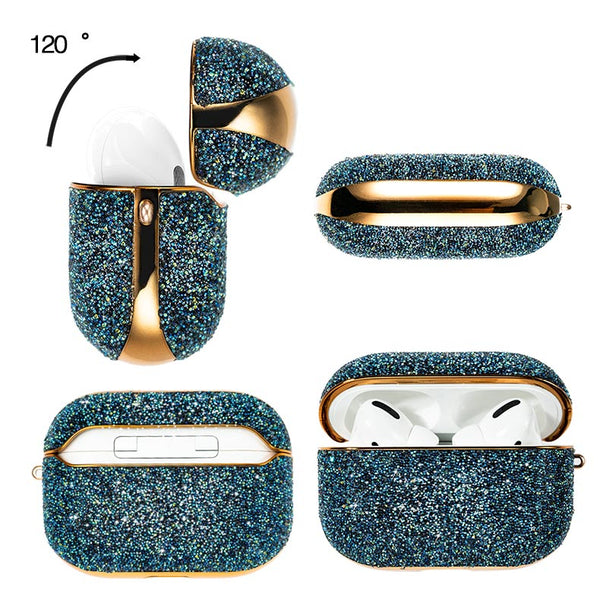 Luxury Crystal & Gold Bling Protective AirPod Pro Cover Case